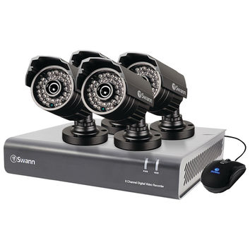 Swann 8-channel Dvr With 4 Security Cameras At 720tvl
