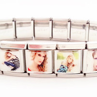 Taylor Swift Inspired Complete Italian Charm Link Bracelet