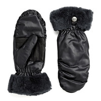 Ugg Australia Ladies Shearling Trimmed Mittens