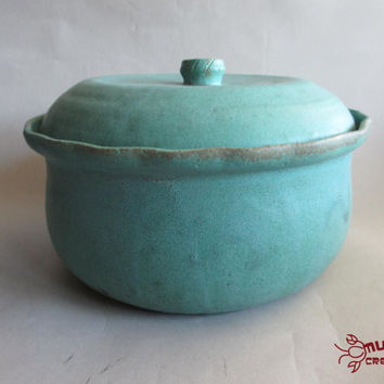 Ceramic Bean Pot - Green