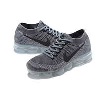 Nike Air VaporMax Flyknit Popular Women Men Casual Running Sport Shoes Sneakers Shoes Grey  I/A