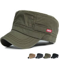 REDSHARKS men's women's cadet hats flat top military army caps solid plain color