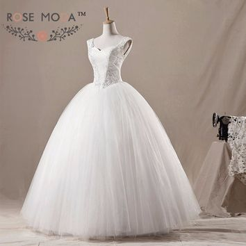 Lace Cap Sleeves Princess Wedding Ball Gown Crystal Beaded Corset Debutante Dress Vestidos de Noiva Real Photos