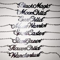 Secret Cursive Necklaces