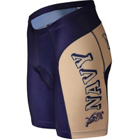 Navy Midshipmen NCAA Flat Seam Cycling Shorts (X-Large)
