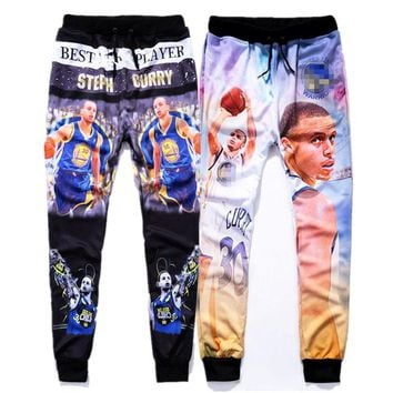 ISTider Fashion Mens Hip Hop Jogger Pants Graphic Print Curry Stylish Track Sweat Pants Hiphop Streetwear Winter Trousers Men