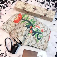 GUCCI Summer Popular Bee Flower G Letter Pattern Retro Umbrella Sunshade Folding Sunshade Automatically I12434-1