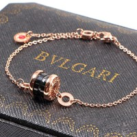 Bulgari trend hot sale charity small red person bracelet
