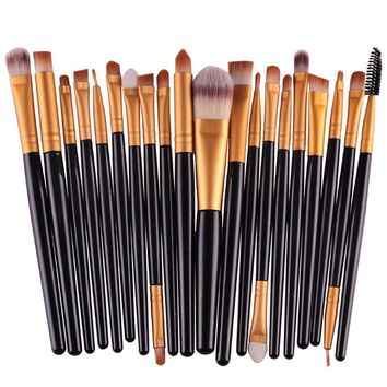 20 pcs makeup brushes Professional Foundation Eyeshadow Eyeliner Lip pinceis de maquiagem Cosmetic  Brushes Pinceaux Tools
