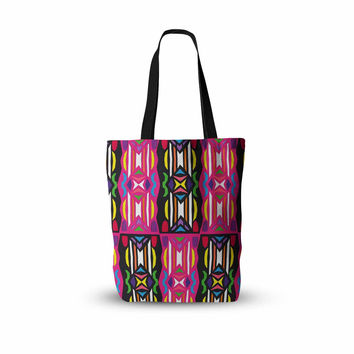 "Miranda Mol ""Lets Party"" Pink Black Everything Tote Bag"