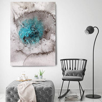 "Coastal Watercolor Abstract 29. Watercolor Abstract Blue Black Canvas Art Print, Extra Large Canvas Art Print up to 72"" by Irena Orlov"