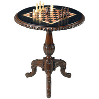 Parlor Chess & Checkers Game Table