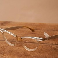 Silver and Clear Cat Eye Glasses
