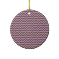African Violet And Brown Chocolate Chevron Ornaments from Zazzle.com