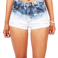 Ocean Ombre High Waist Shorts | Denim Shorts at Pink Ice