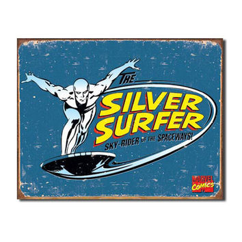Silver Surfer Retro Vintage Tin Sign