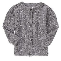 Sparkle Open-Stitch Cardigan