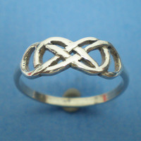 Celtic Knot Double Infinity X Infinity Ring Silver by yhtanaff
