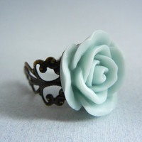 Everyday Ring - Resin Flower Ring by threestonebirds