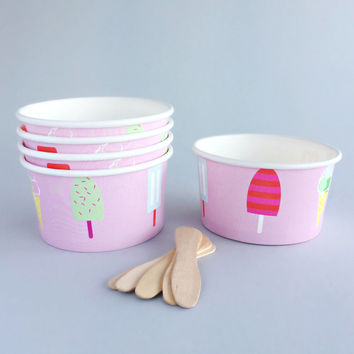 Pink Ice Cream Bowls