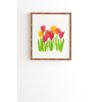 Laura Trevey Bright Tulips Framed Wall Art