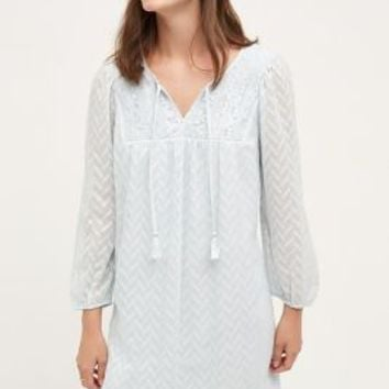 one.september Carraroe Peasant Dress in Sky Size: