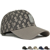 Summer Men's Women's Baseball Hats Patterned Printed Leather Lable Snapback Caps