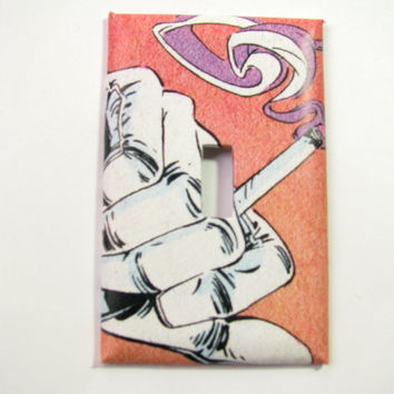 Light Switch Cover - Light Switch Plate Vintage Comic Cigarette