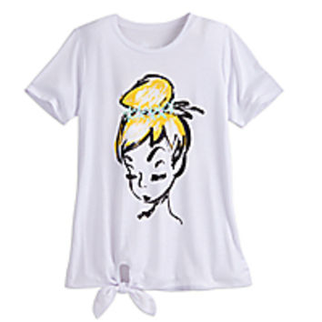 Tinker Bell Fashion Tee with Tie Hem for Women