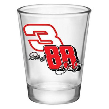 Shot Glass - Nascar Dale Earnhardt Sr. and Jr. #3 and #88 (2oz)