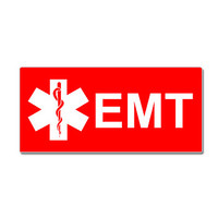 EMT Star Of Life Red Sticker