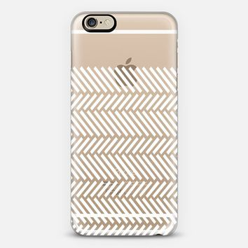 Herringbone Boarder Transparent #2 iPhone 6 case by Project M | Casetify