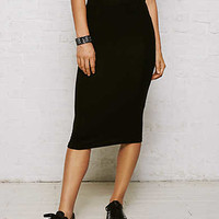Don't Ask Why Ribbed Pencil Skirt, Black