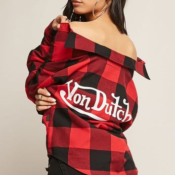 Von Dutch Plaid Flannel Shirt