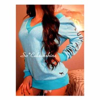 Victoria's Secret vneck crew sweatshirt($ 40) - Mercari: Anyone can buy & sell