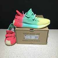 Sale Kanye West x Adidas Yeezy 350 V2 Boost Multicolor Sport Shoes Colorful Rainbow Running Shoes