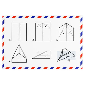 Paper Airplane Postcard