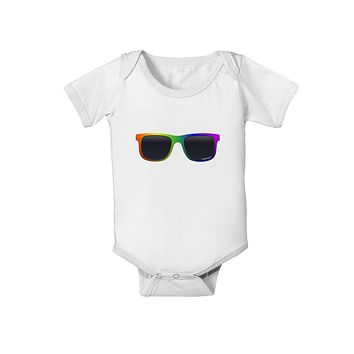Pride Rainbow Glasses Baby Romper Bodysuit by TooLoud