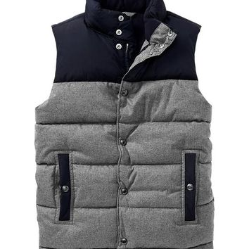 Gap Boys Factory Colorblock Fleece Puffer Vest