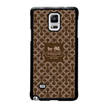 COACH NEW YORK 1941 Samsung Galaxy Note 4 Case Cover