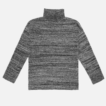Boucle Turtleneck / Black Melange