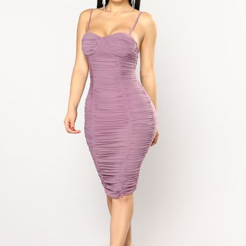 Soul Mate Search Dress - Dark Lavender