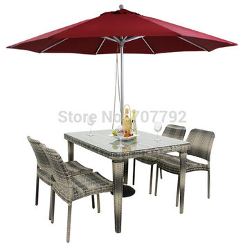 Simple Desgin outdoor Wicker chair and table