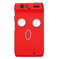 "Red ""Of Face"" Pattern. Customize it! Droid RAZR Covers from Zazzle.com"