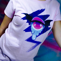 Milky Galaxy Batwing Fairy Kei Cyclops Eye Womens T Shirt Size S-2XL