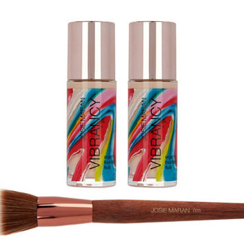 Josie Maran Super-size Vibrancy Foundation with Brush — QVC.com