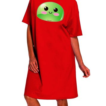 Cute RPG Slime - Green Dark Adult Night Shirt Dress by TooLoud