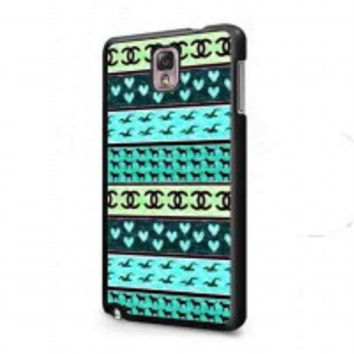 red hollister seagulls chanel sign hearts stripes for samsung galaxy note 3 case