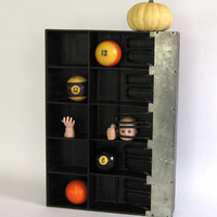 Vintage Cash Register Money Tray Display Repurposed Halloween