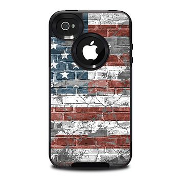 The Vintage USA Flag Skin for the iPhone 4-4s OtterBox Commuter Case